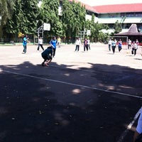 Photo taken at Lapangan SMA 98 JAKARTA by Nadia A. on 12/15/2012