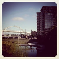 Photo taken at Tanner Springs Park by Brian D. on 8/3/2011