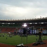 Photo taken at Kompleks Gelora Bung Karno by ella i. on 1/19/2013