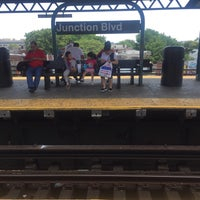 Photo taken at MTA Subway - Junction Blvd (7) by Stefan M. on 6/10/2017