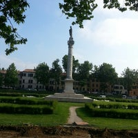 Photo taken at Piazza Ariostea by Ms. Ele E. on 6/1/2013