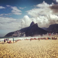 Photo taken at Ipanema Beach by Francisco B. on 7/27/2013