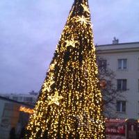 Photo taken at Plac Artystów by Karol L. on 12/26/2012