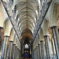 Photo taken at Salisbury Cathedral by Andrew R. on 9/15/2012