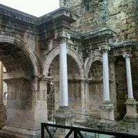 Photo taken at Hadrian's Gate by Simge G. on 2/9/2013