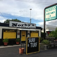 Photo taken at Norby's Steak and Seafood by Steven on 8/15/2013