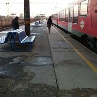 Photo taken at Tatabánya vasútállomás by Szilvia on 3/20/2013
