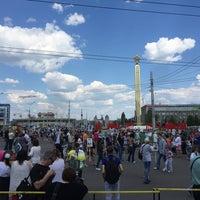 Photo taken at Площадь Победы by Sergey V. on 5/9/2016