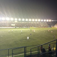 Photo taken at Estádio Passo D'Areia (Zequinha) by Luciano Couto on 3/28/2013