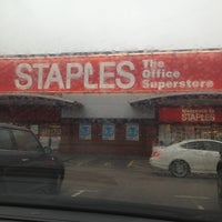 Photo taken at Staples by Jeremy on 1/2/2013