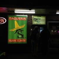 Photo taken at San Luis Taqueria by Noe on 11/17/2012