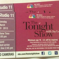 Photo taken at The Tonight Show with Jay Leno by Adam H. on 3/20/2013