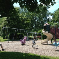 Photo taken at The Playground at Tunnel Field by Michiko B. on 6/20/2013