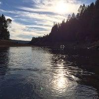Photo taken at Scotts Flat Lake by Peter C. on 10/7/2013