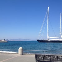 Photo taken at Kos Harbour by Selin Y. on 8/22/2013
