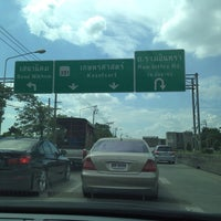 Photo taken at Kaset-Sena Nikhom Intersection by ShowpowMay J. on 9/14/2014