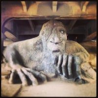 Photo taken at The Fremont Troll by Orrett D. on 4/28/2013