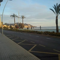 Photo taken at Platja de Ponent by Anna F. on 12/30/2012