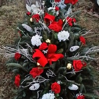 Photo taken at Moravian Cemetery by Chuck B. on 12/24/2013