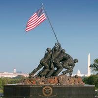 Photo taken at US Marine Corps War Memorial (Iwo Jima) by StayArlington on 9/24/2012