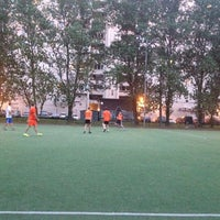 Photo taken at Футбольное поле by Оксана Р. on 8/12/2014