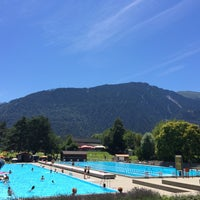 Photo taken at Freibad Obere Au by Eniko L. on 7/18/2014