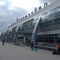Photo taken at Tolmachevo International Airport (OVB) by Vlad on 6/3/2013