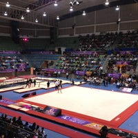 Photo taken at Complejo Nissan de Gimnasia by Paulina C. on 11/18/2012