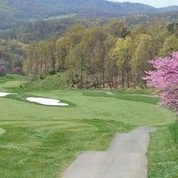 Photo taken at Rocky Gap Casino's Jack Nicklaus Signature Golf Course by Kay S. on 5/5/2013