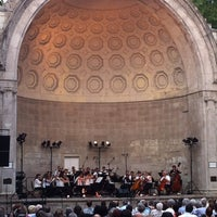 Photo taken at Naumburg Bandshell by Christopher H. on 7/9/2013
