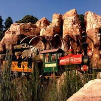 Photo taken at Big Thunder Mountain Railroad by Kristina P. on 12/7/2012