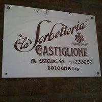Photo taken at La Sorbetteria Castiglione by Danilo M. on 9/24/2012
