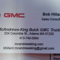 Photo taken at McAndrews-King Buick GMC by Bob H. on 4/18/2013