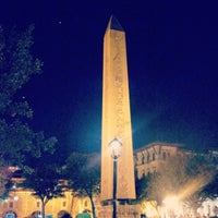Photo taken at The Obelisk of Theodosius I by Seher B. on 10/19/2012