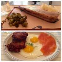 Photo taken at Russ & Daughters Café by Roy H. on 9/29/2014
