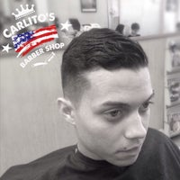 Photo taken at Carlito's Barber Shop by Carlos B. on 5/26/2015