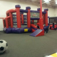 Photo taken at BounceU Horsham by Courtney A. on 2/3/2013