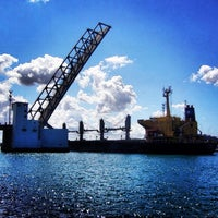 Photo taken at Pont de Bizerte by Salym Al Boukhari on 7/1/2013