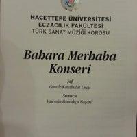 Photo taken at Hacettepe Üniversitesi Kültür Merkezi M Salonu by Meftun C. on 3/6/2013