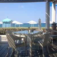 Photo taken at Пляж Aldemar Knossos by Evgen3а on 9/4/2013