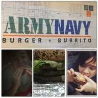 Photo taken at Army Navy Burger + Burrito by Stefanie S. on 2/14/2013