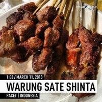 Photo taken at Warung Sate Shinta by Ferdinal C. on 3/10/2013