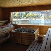 Photo taken at Bota Bota, spa-sur-l'eau by Artem B. on 9/20/2012
