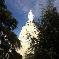 Photo taken at Notre Dame du Liban Harissa by Nesrin D. on 4/21/2013