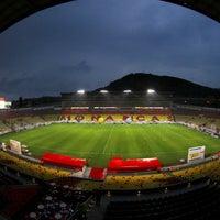 Photo taken at Estadio Morelos VIP by Wera P. on 1/28/2016