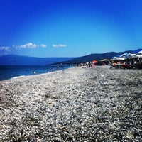 Photo taken at Velika Beach by Eleni on 6/22/2014