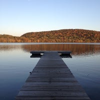 Photo taken at Rockland Lake State Park by Kimbo on 10/20/2012