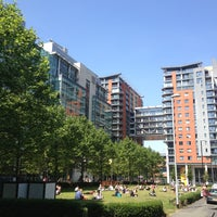 Photo taken at Spinningfields Square by André M. on 7/16/2013