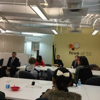 Photo taken at Hive at 55 by Paulina P. on 4/9/2013