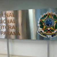Photo taken at Tribunal Regional Eleitoral do Paraná by Helcio R. on 10/7/2012